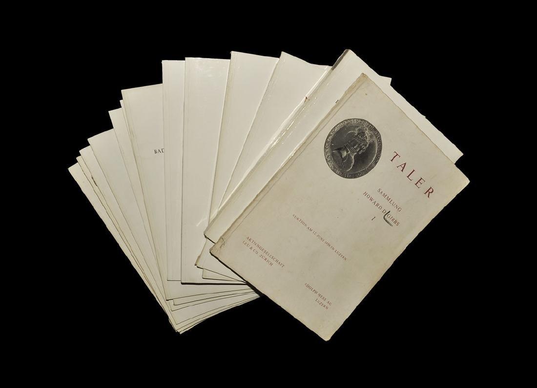 Numismatic Auctions Hess and Leu Sale Catalogues 4, 23,