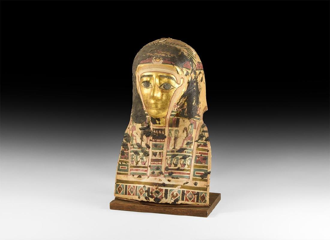 Egyptian Large Gilt Mummy Mask