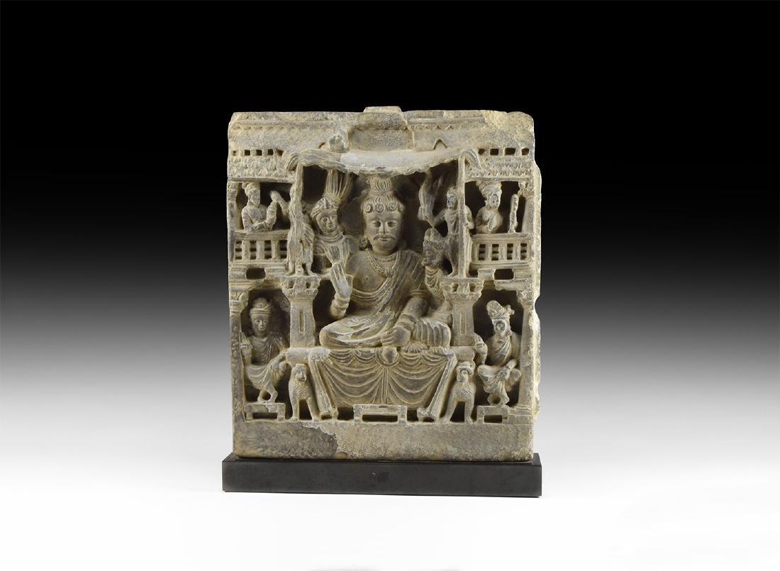 Gandharan Frieze with Maitreya and Disciples