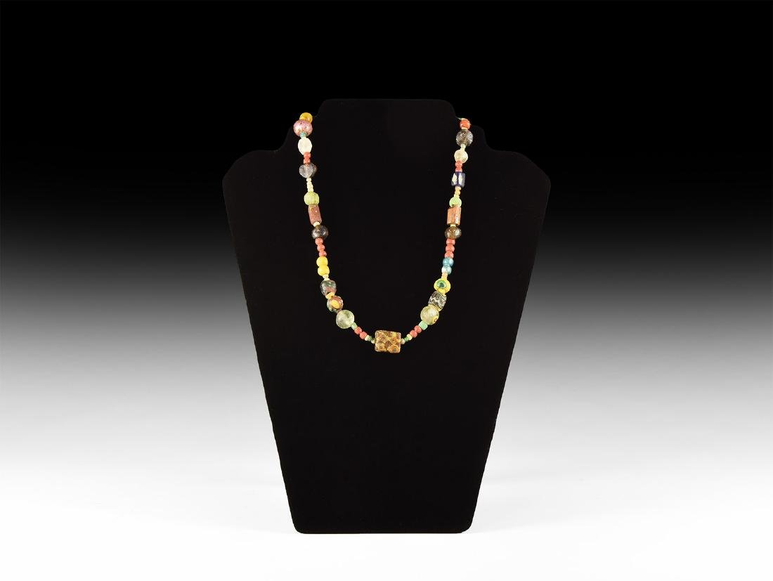 Roman and Later Glass Bead Necklace