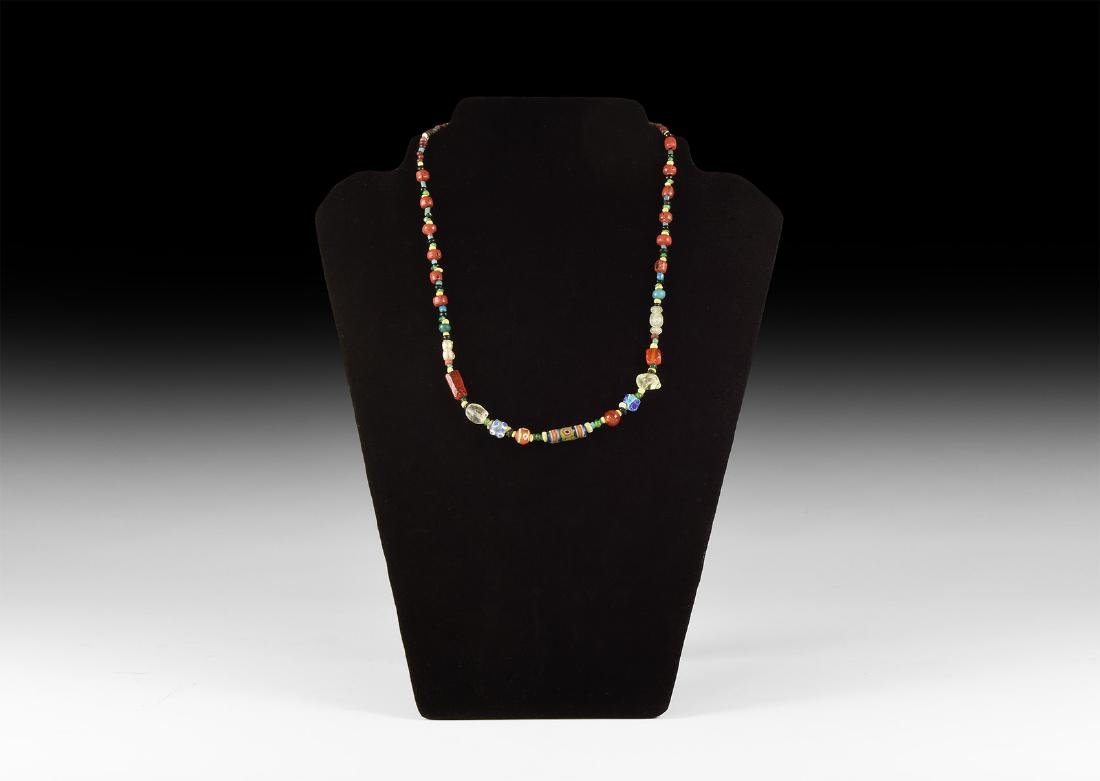 Roman/Later Glass Bead Necklace with Eye Beads