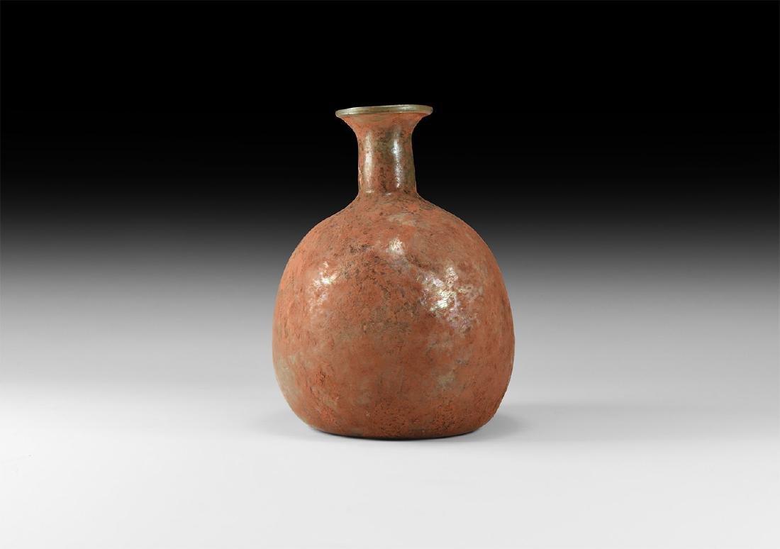 Roman Bulbous Glass Bottle