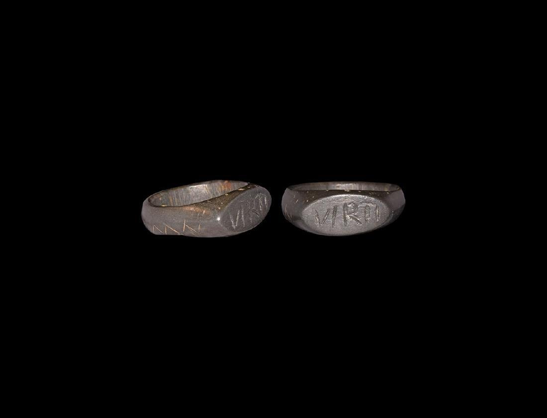 Roman Legionary 'VIRTI' Ring