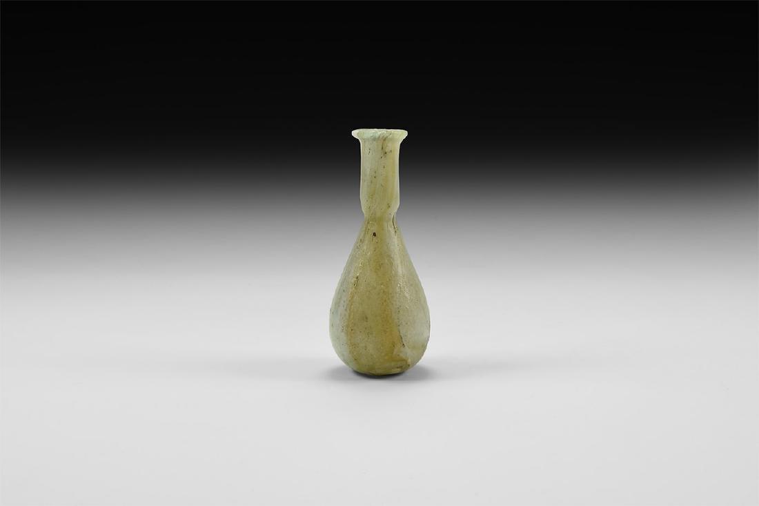 Roman Marbled Glass Unguentarium
