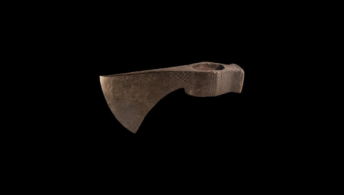 Viking Decorated Battle Axehead