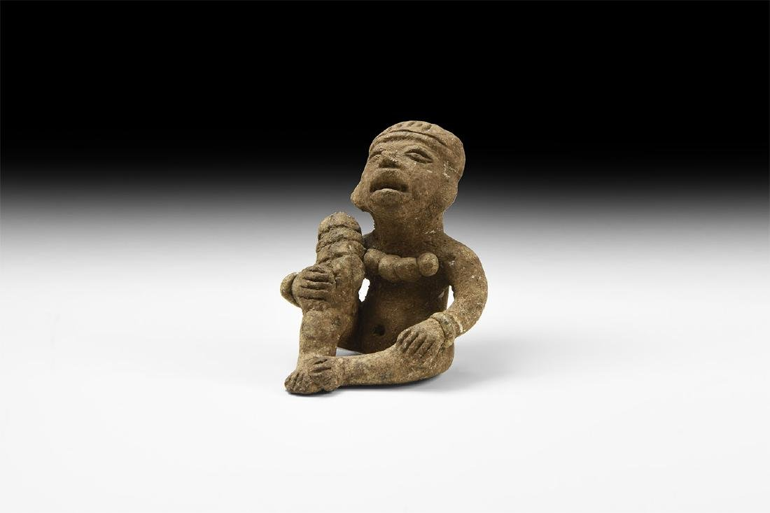Pre Columbian Mexican Seated Figure