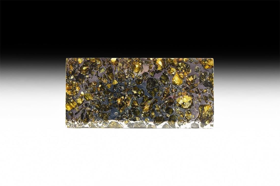 Seymchan Cut and Polished Meteorite Slice
