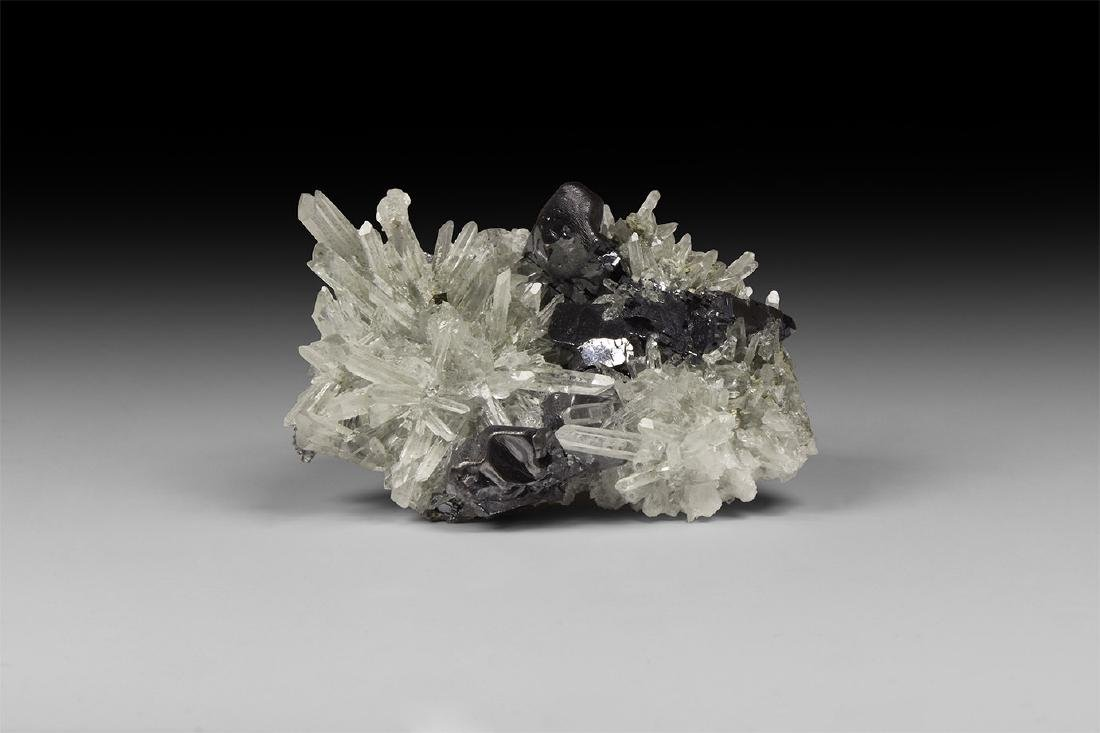 Bulgarian Galena with Quartz & Pyrite Crystals