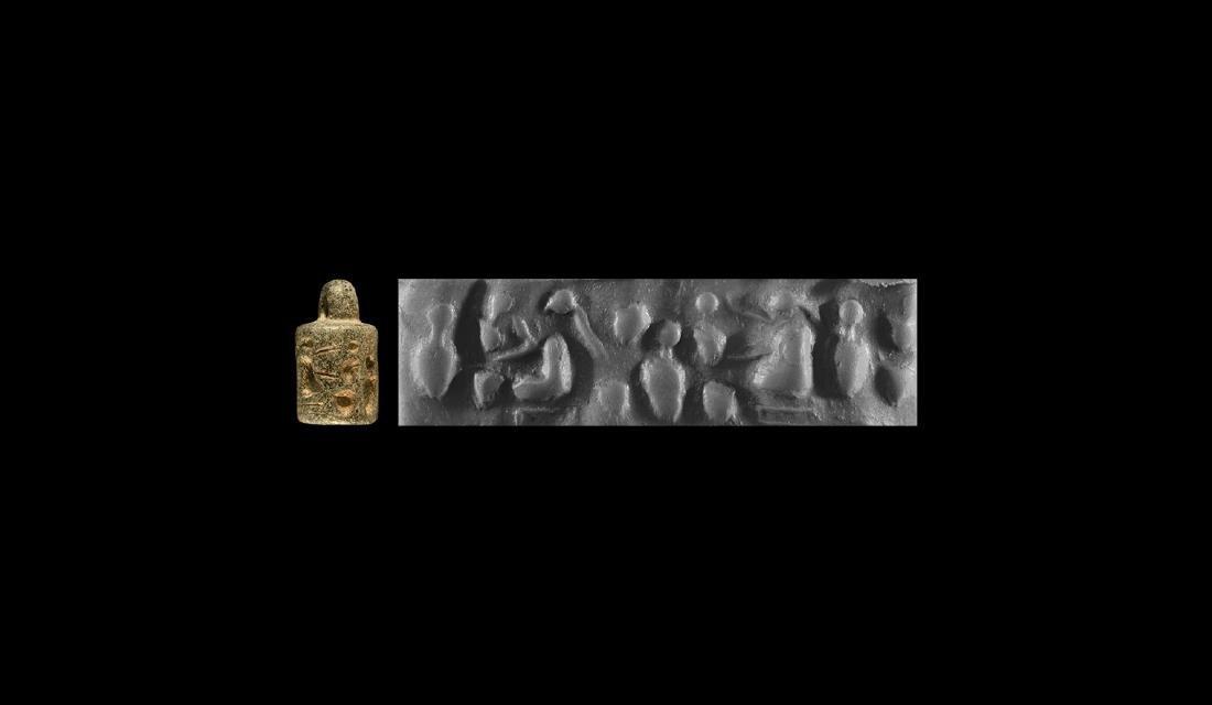 Mesopotamian Women Pendant Cylinder Seal