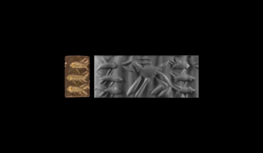 Mesopotamian Cylinder Seal with Fish