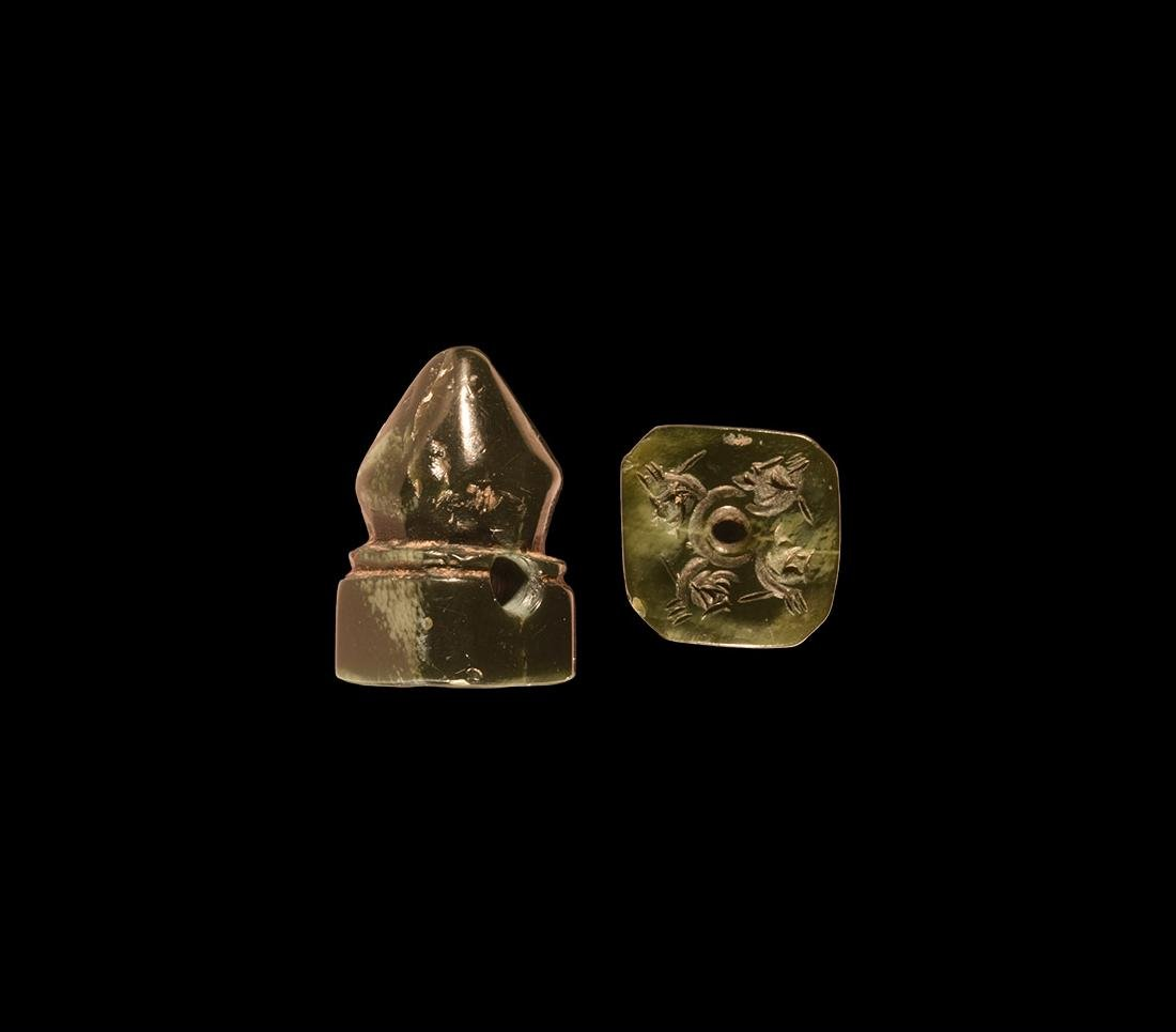 Sassanian Stamp Seal with Swastika