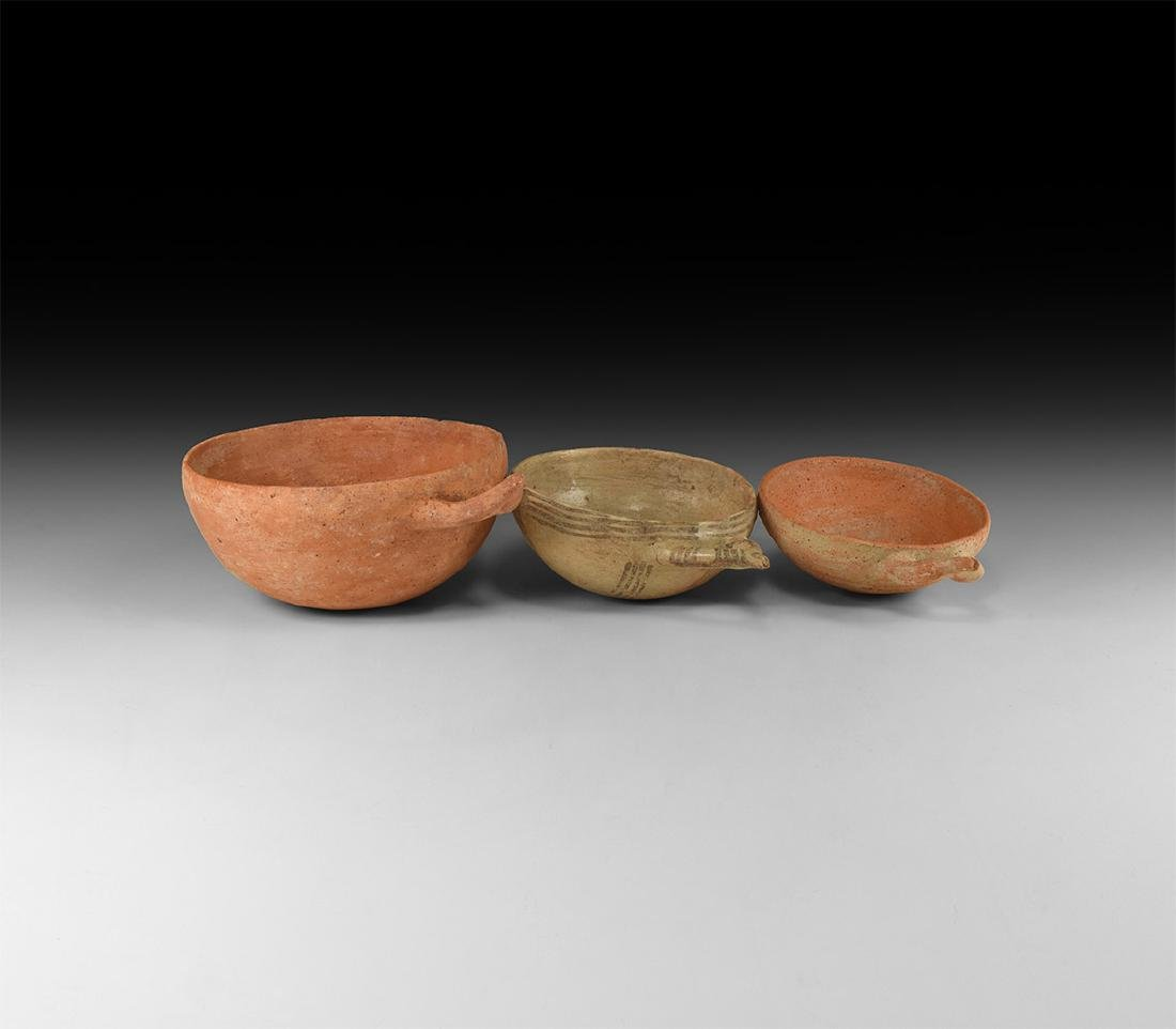 Western Asiatic Handled Holy Land Bowl Group