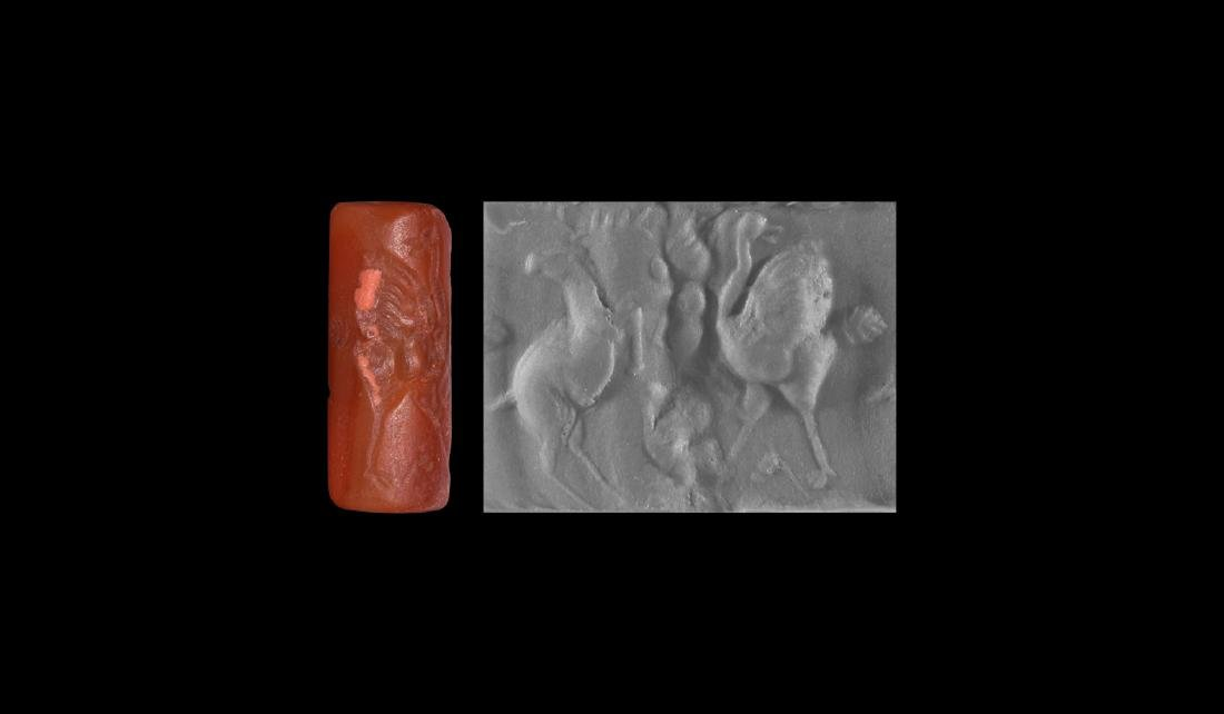 Middle Assyrian Cylinder Seal with Ostriches
