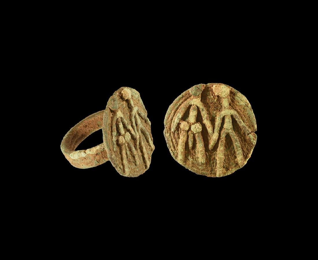 Western Asiatic Amlash Ring with Erotic Scene