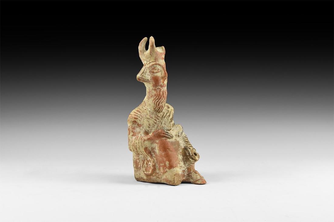 Western Asiatic Crowned Figure