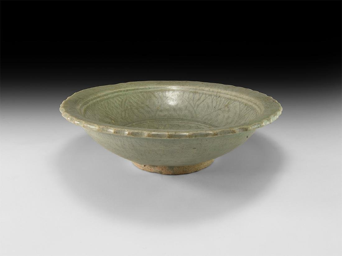 Chinese Ming Green Glazed Dish