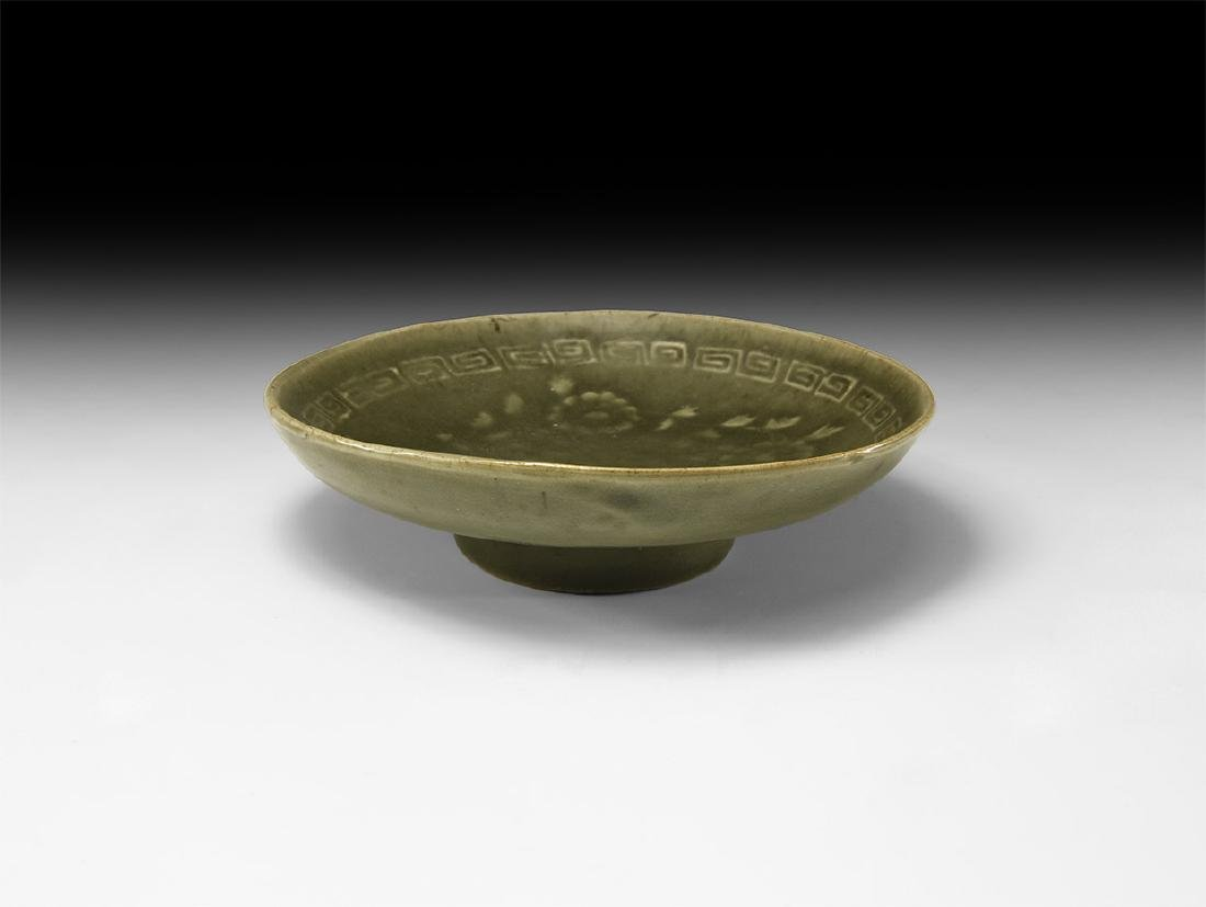 Chinese Yuan Green Glazed Dish