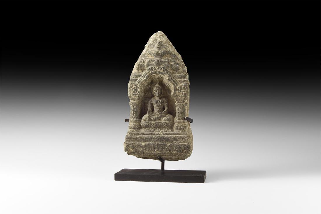 Indian Seated Buddha in Mahabodhi Temple