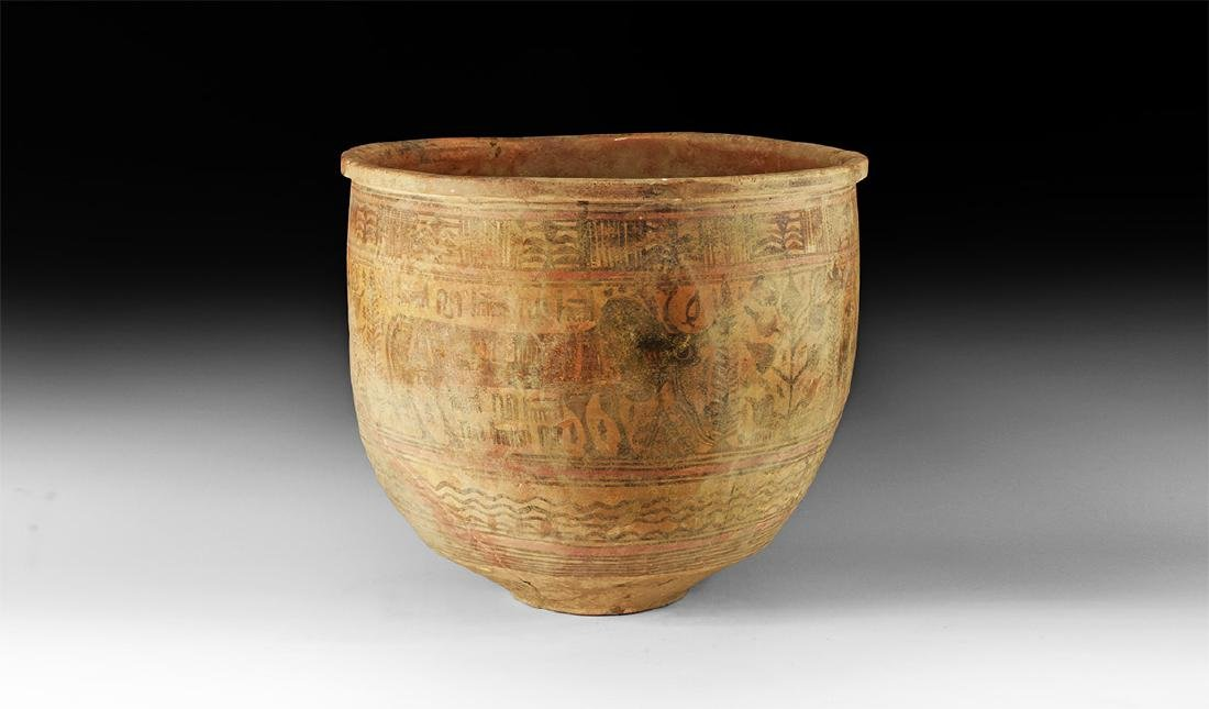 Indus Valley Large Mehrgarh Polychrome Vessel
