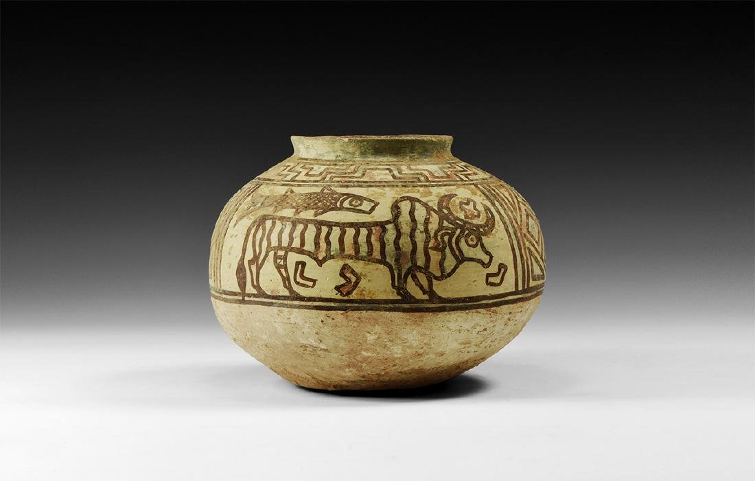 Indus Valley Mehrgarh Polychrome Jar with Beasts