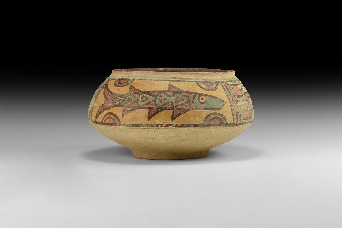 Indus Valley Mehrgarh Polychrome Jar with Fish