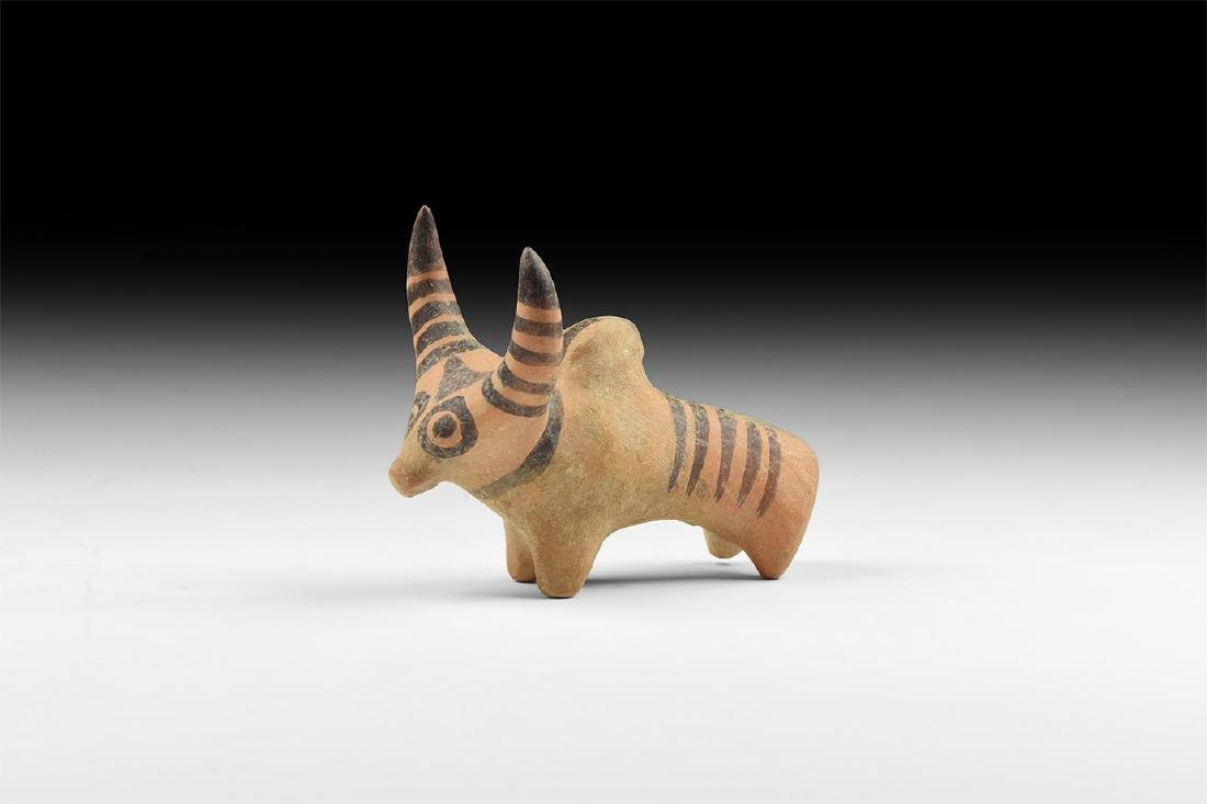 Indus Valley Painted Votive Bull Figurine