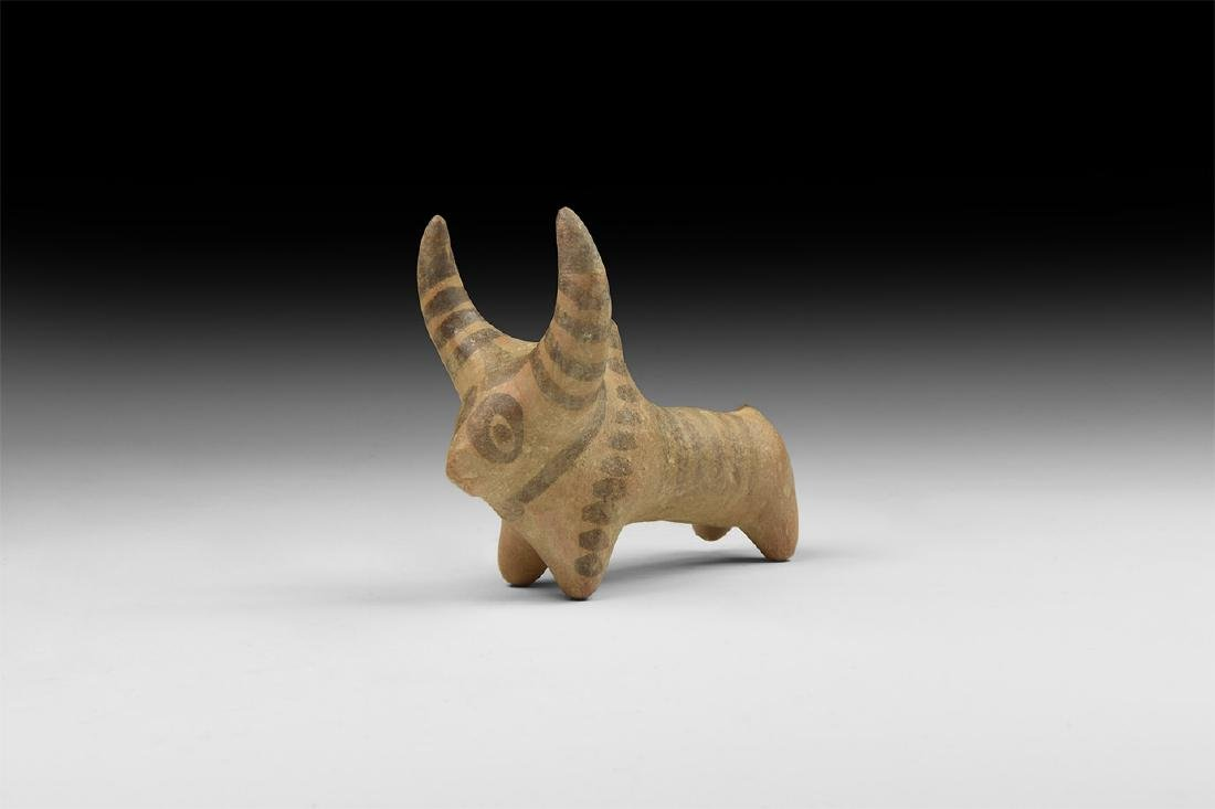 Indus Valley Painted Votive Bull Statuette
