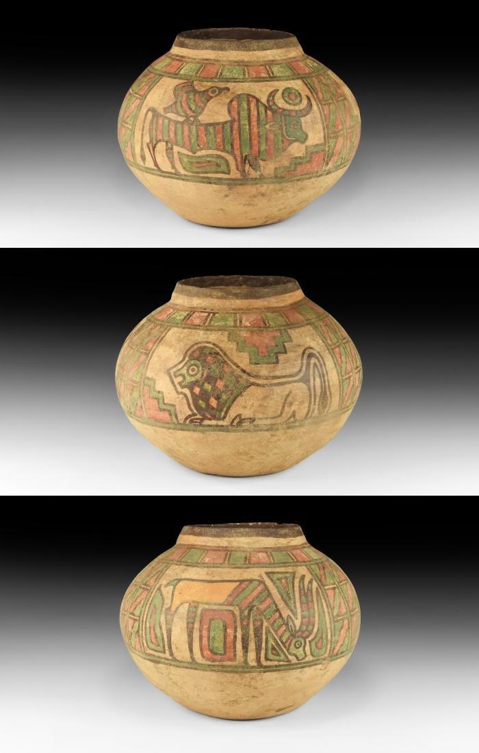 Indus Valley Mehrgarh Storage Jar with Animals