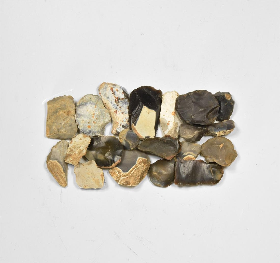 Stone Age Flint Scraper Group