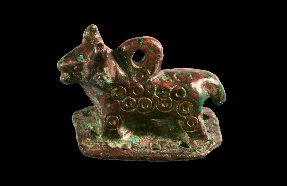 Bronze Age Bull Pendant