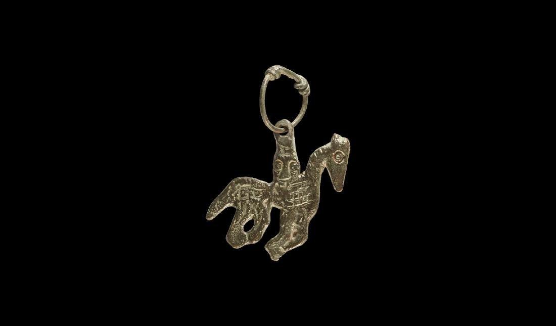 Viking Horse and Rider Pendant