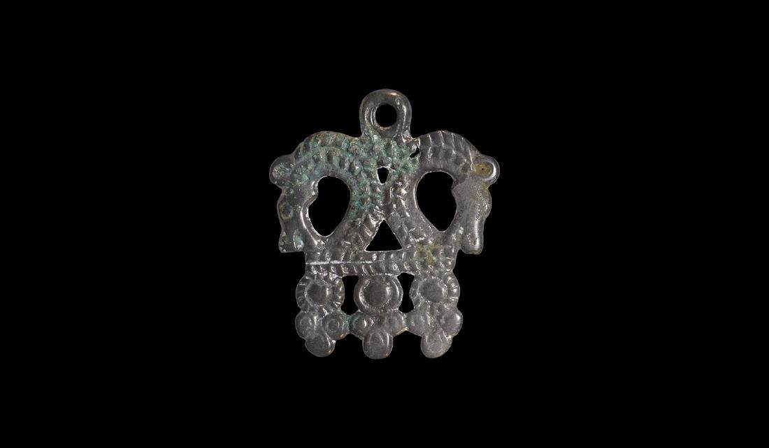 Viking Horse-Heads Pendant