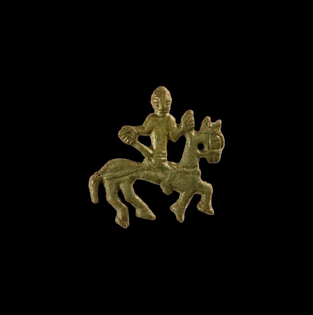 Viking Horse and Rider Applique