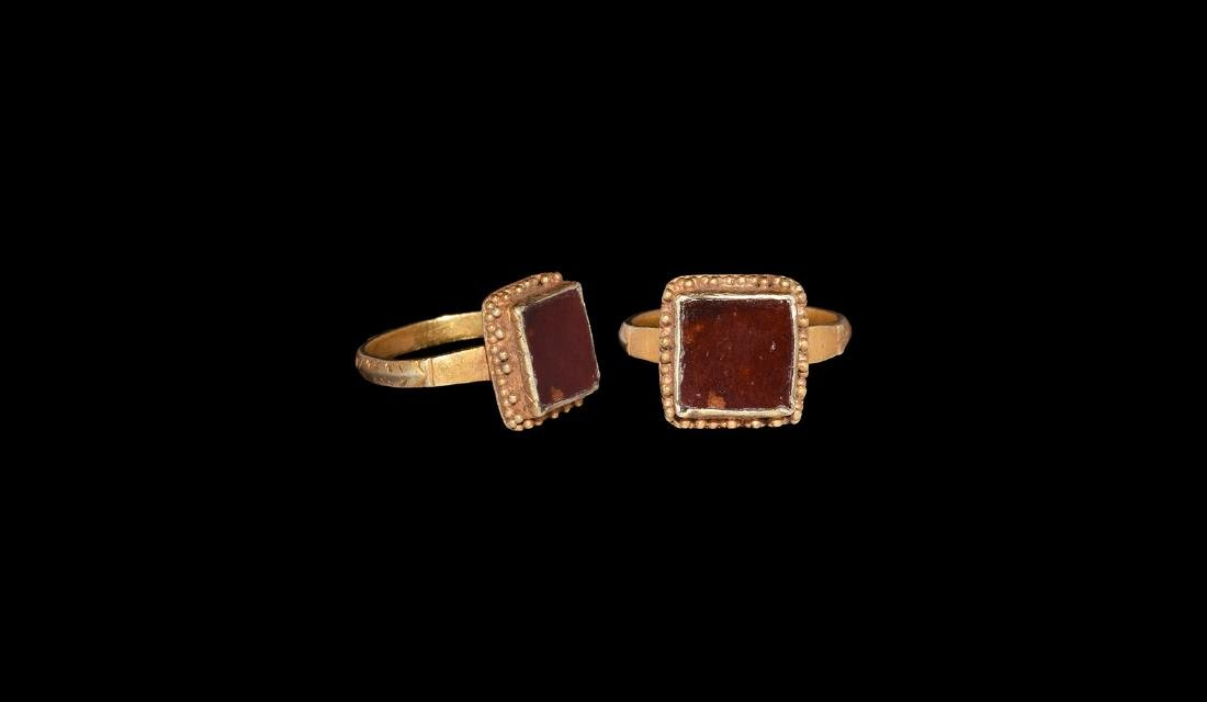 Medieval Gold Ring with Garnet