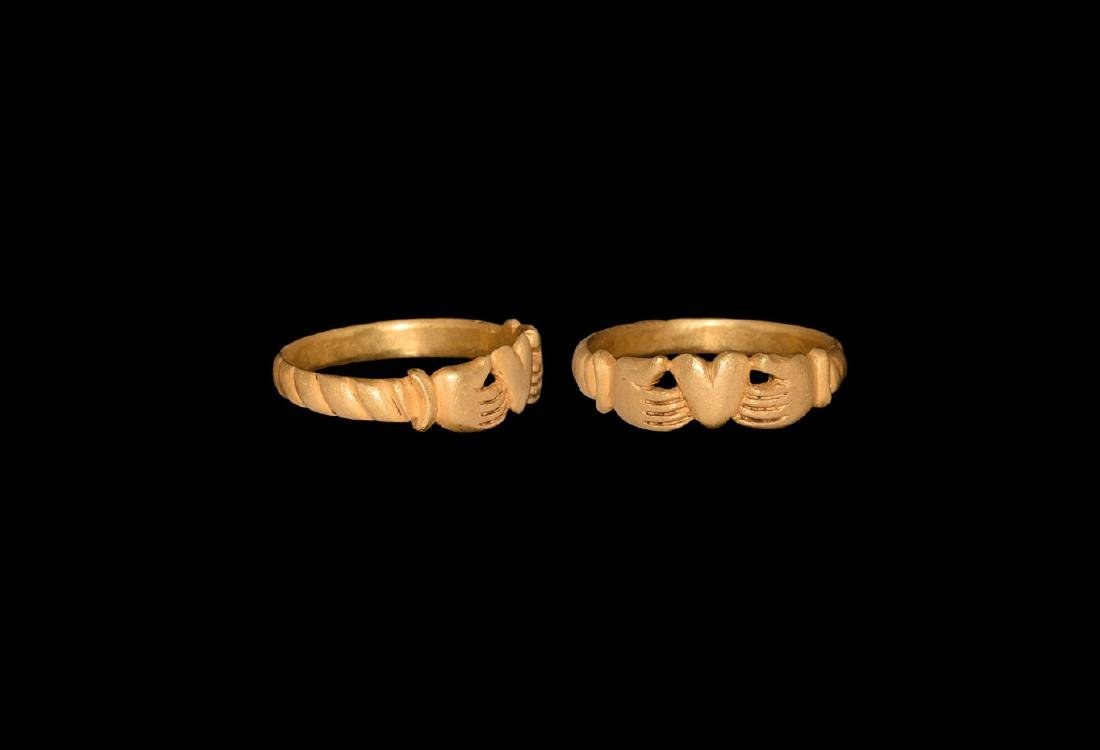 Post Medieval Gold Claddagh Ring