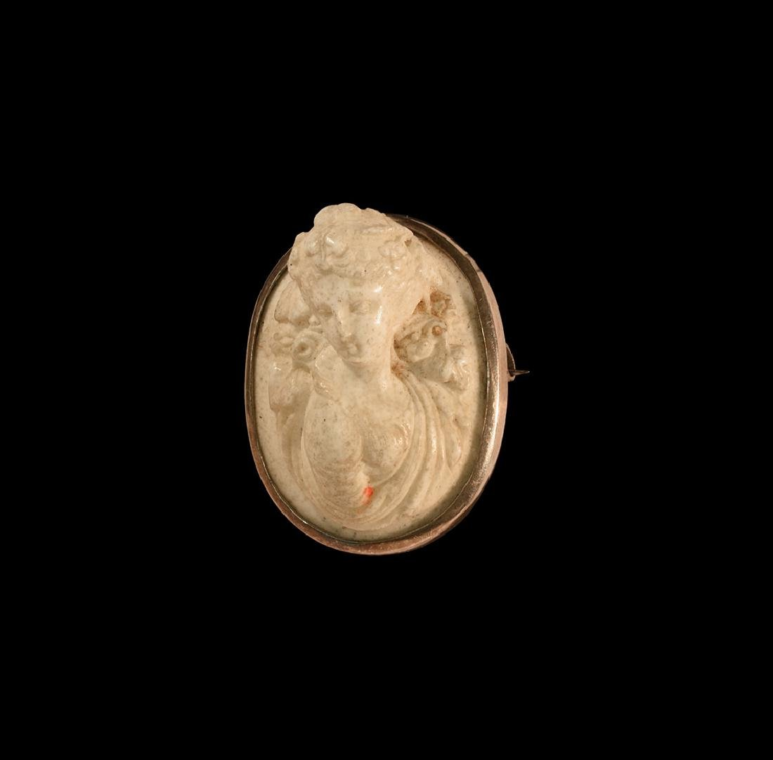 Post Medieval Silver Brooch with Cameo
