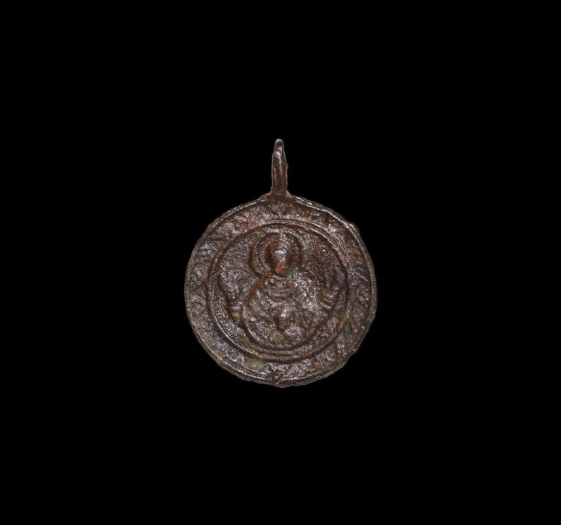 Byzantine Mary Theotokos Pendant