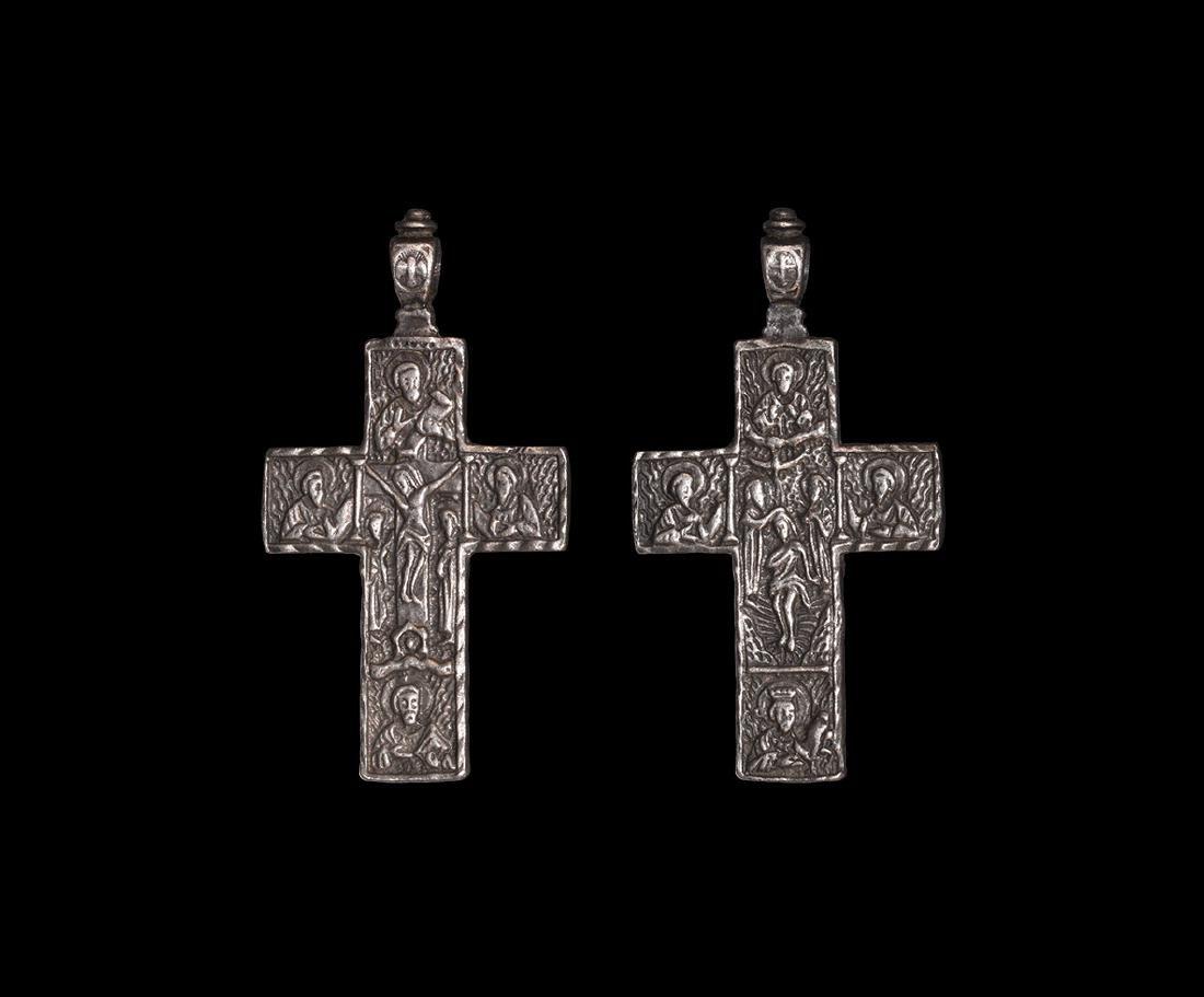 Post Medieval Silver Cross Pendant
