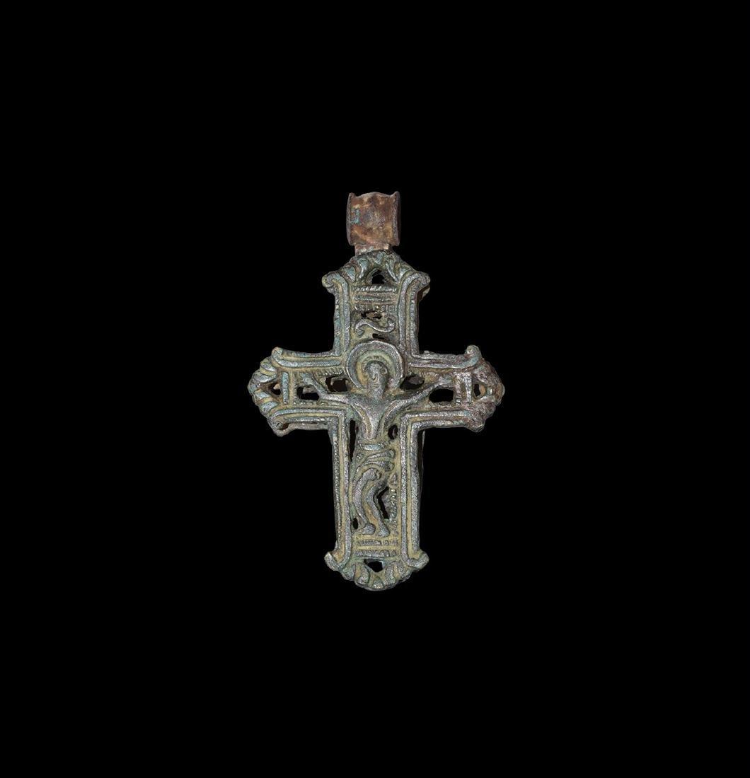 Post Medieval Openwork Cross Pendant