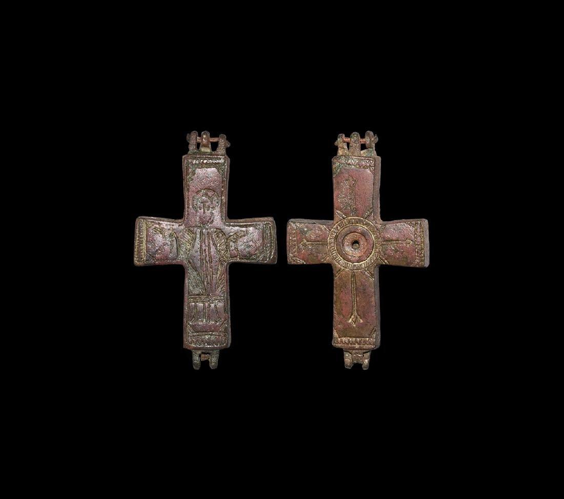 Byzantine Reliquary Cross Pendant