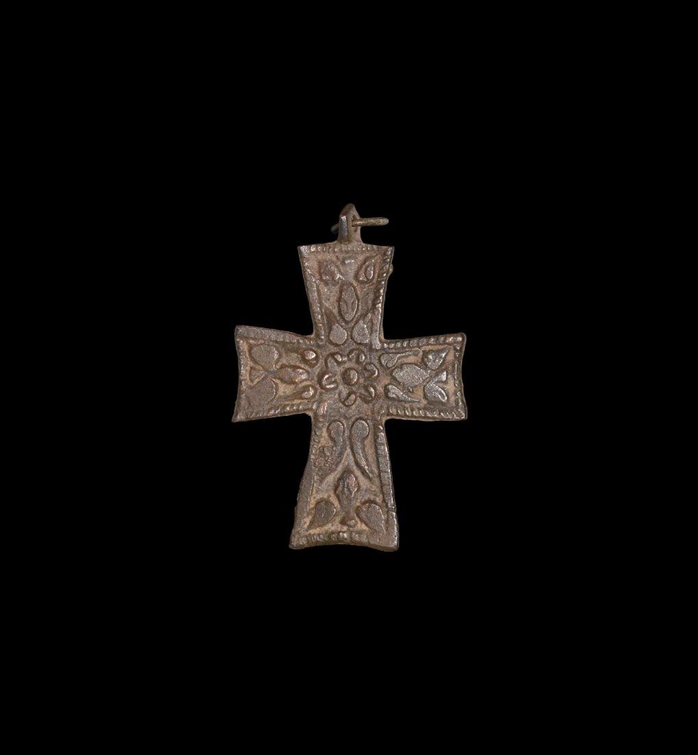 Post Medieval Floral Cross Pendant