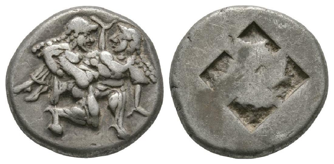 Ancient Greek Coins - Thasos - Satyr Stater