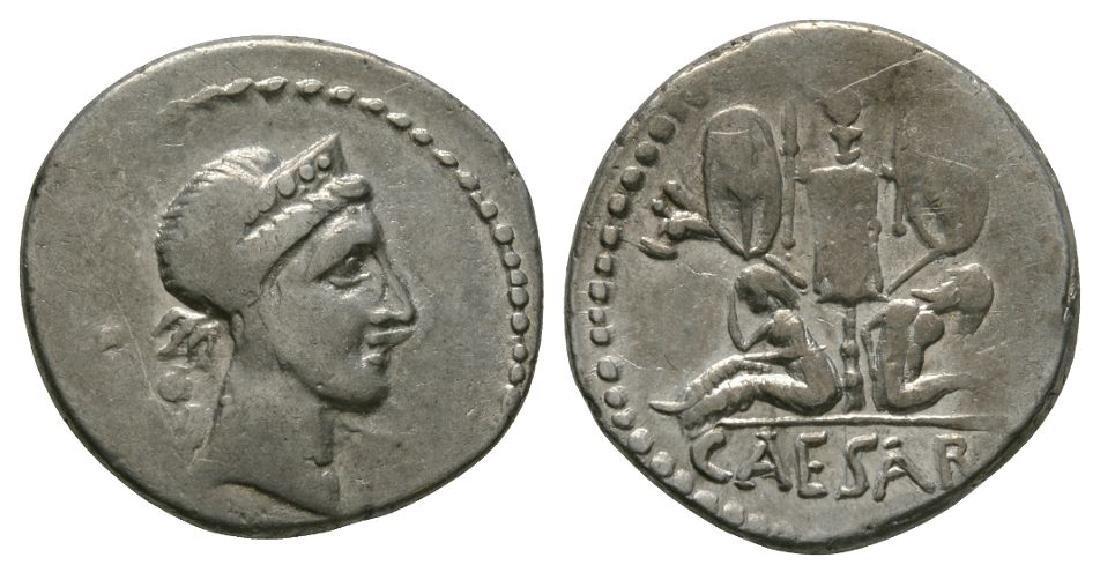 Julius Caesar - Gallic Trophy Denarius
