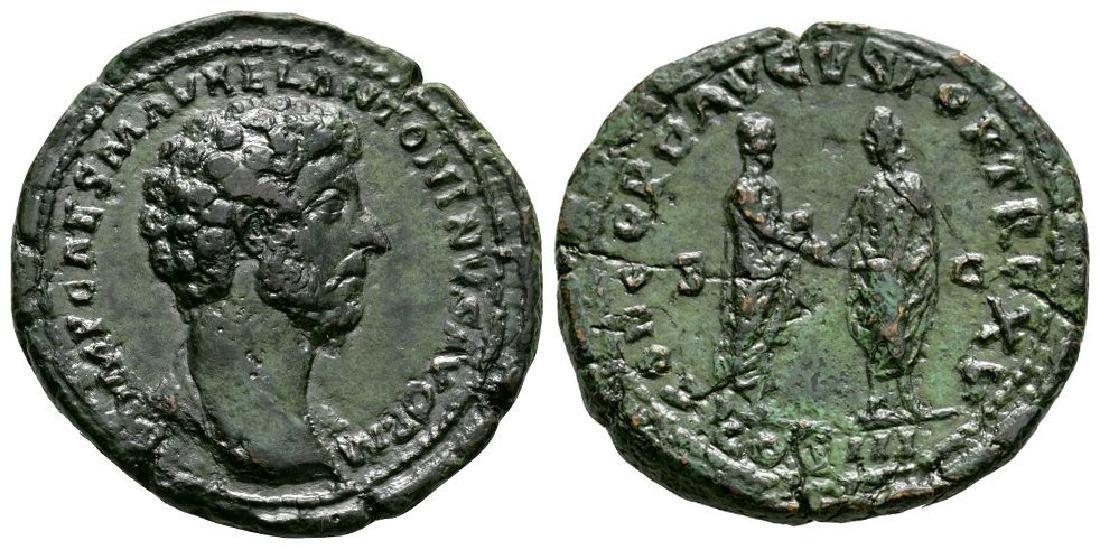 Marcus Aurelius - Emperor and L Verus Sestertius
