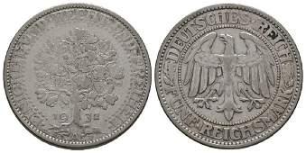 Germany - Weimar - 1932 A - Oak 5 Marks