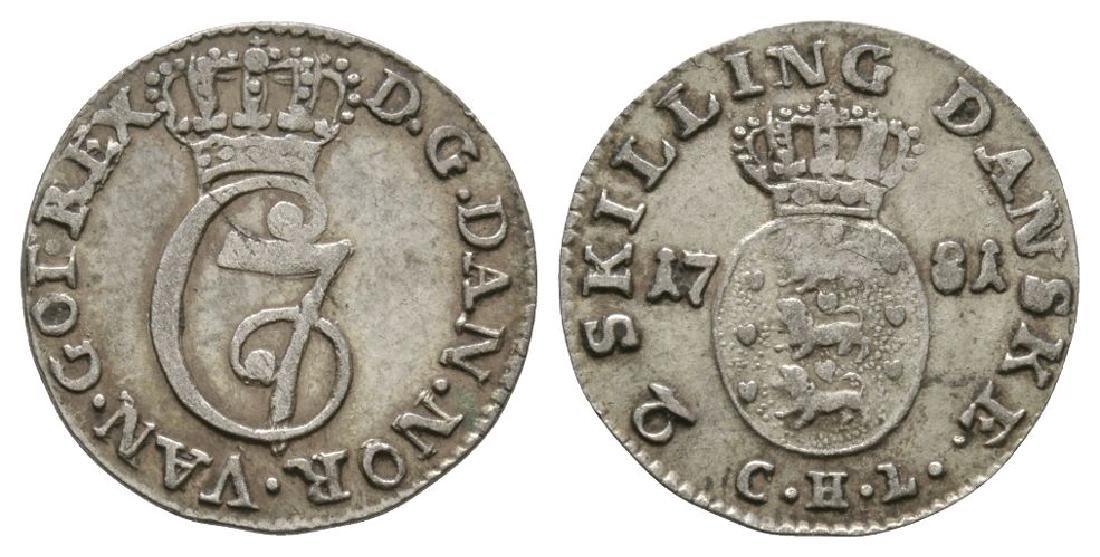 Denmark - Christian VII - 1781 - 2 Skillings