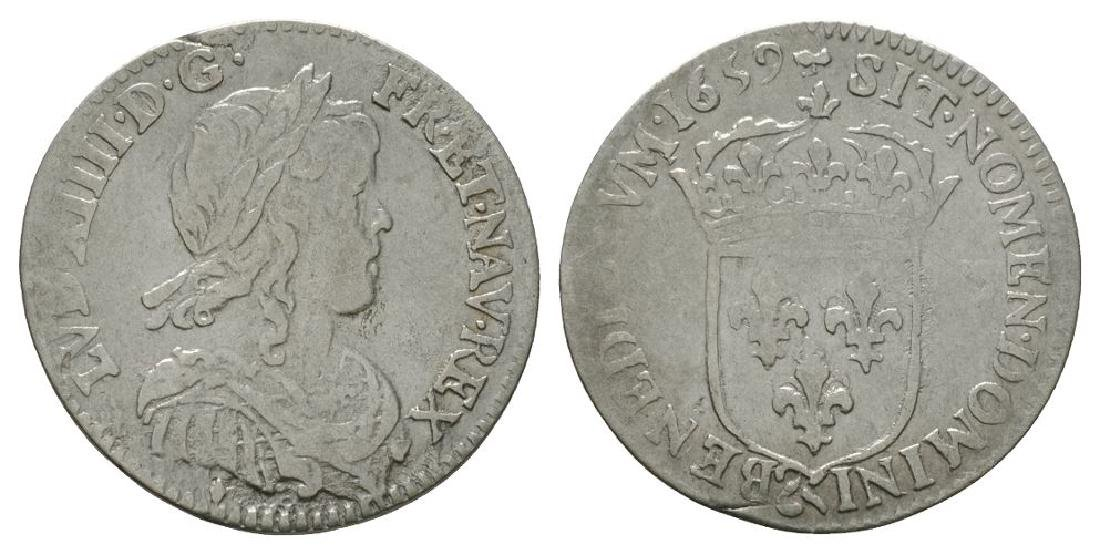 France - Louis XIV - 1659 & - 1/12 Ecu (10 Sols)