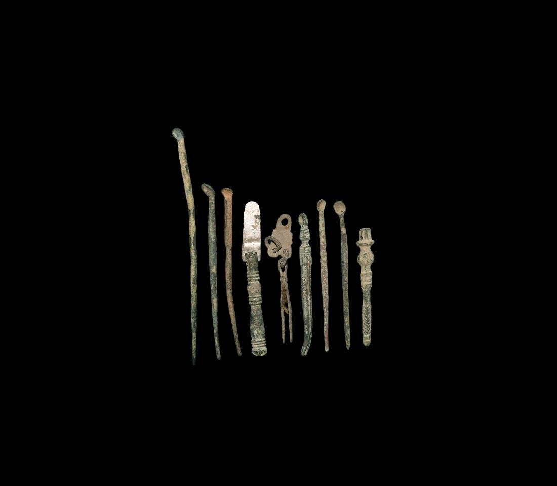 Roman Medical Implement and Spoon Group