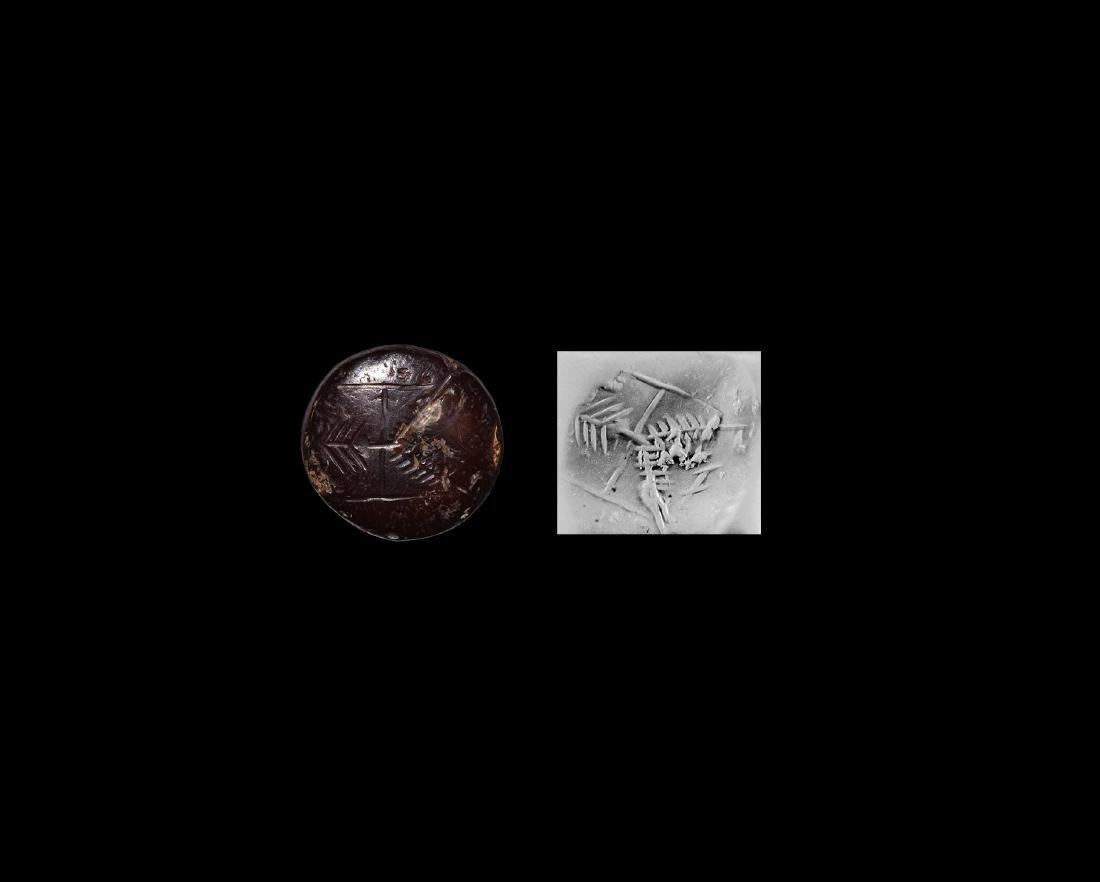 Sassanian Stamp Seal with Gayomard