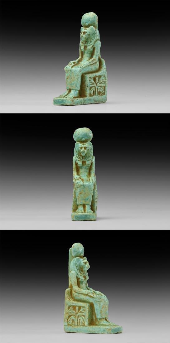 Egyptian Large Seated Sekhmet Amulet